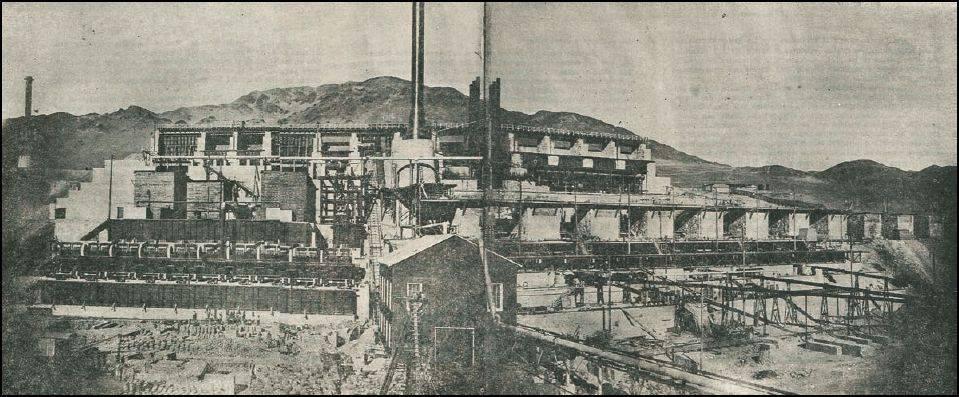 Compañia HUANCHACA, actuales Ruinas, en pleno funcionamiento. Circa 1895.